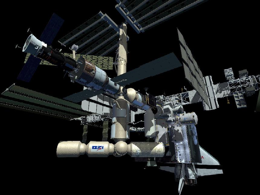 Und so soll die internatinale space station 2006 aussehen